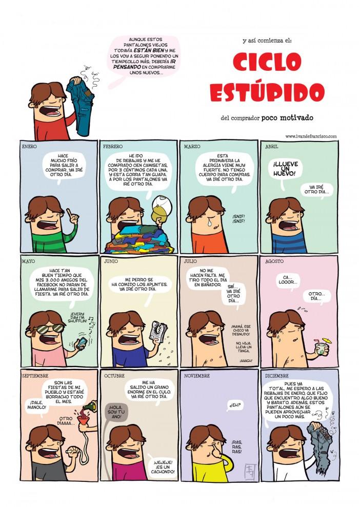 El ciclo estúpido, un cómic chorra en español