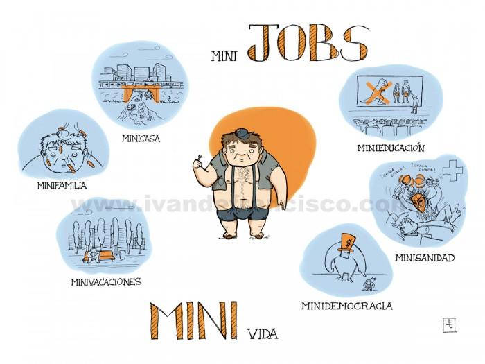 Un cómic sobre la tomadura de pelo que son los minijobs